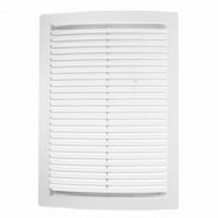 Решетка вентиляционная вытяжная, 180х250 мм, цвет белый